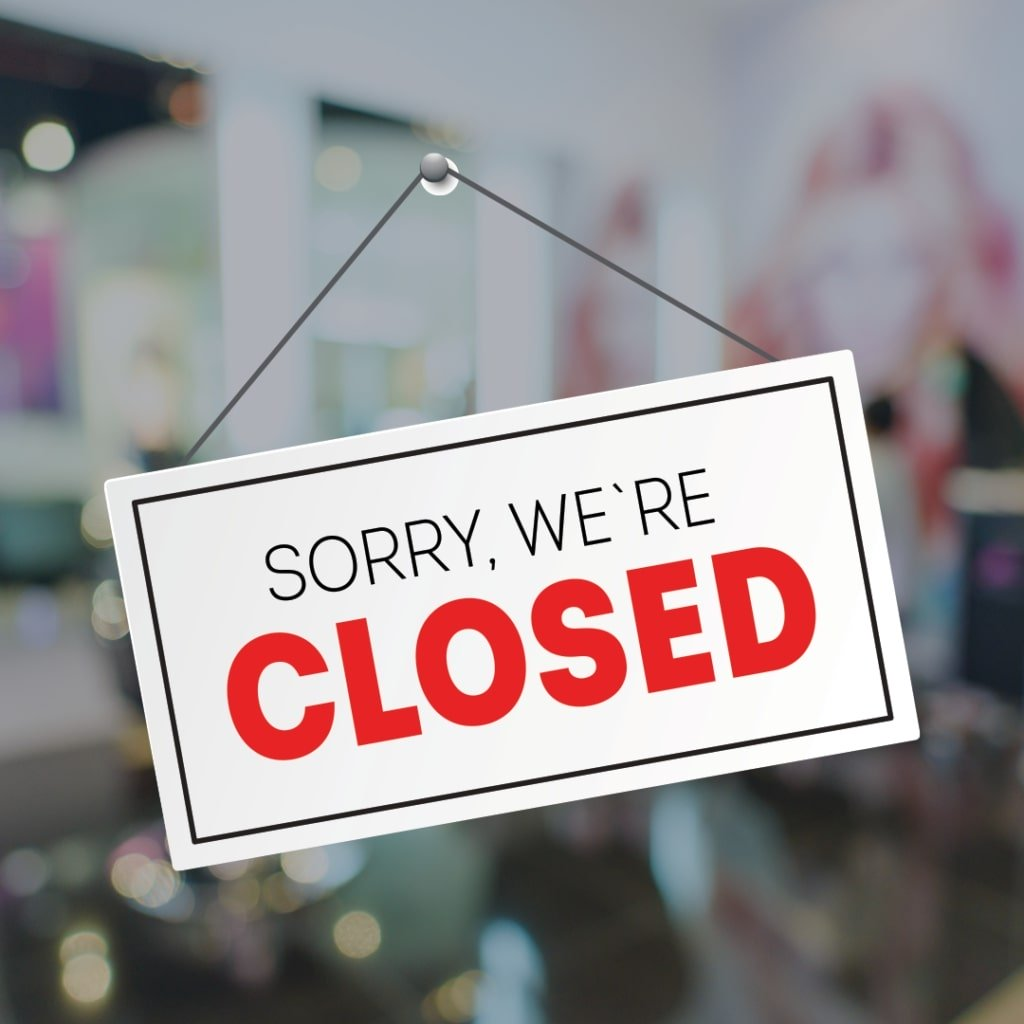 With Sadness – We Are Temporarily Closed
